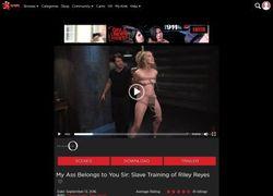 The Training Of Oの動画作品ページのスクリーンショット