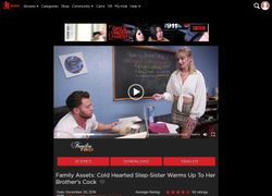 Families Tiedの動画作品ページのスクリーンショット