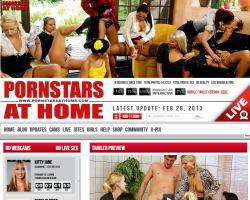 Pornstars At Homeのメインページ