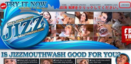 Jizz Mouth Washのメインページ上部