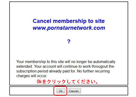 Pornstar Networkの退会手続き手順