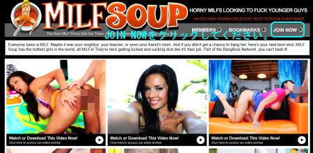 Milf Soupのメインページ