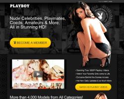 Playboy Plusのメインページ