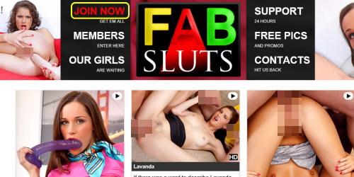 Fab Slutsのメインページ上部