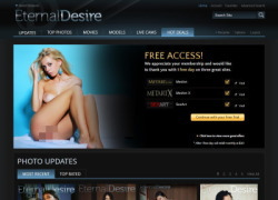 Eternal Desireの会員ページのスクリーンショット