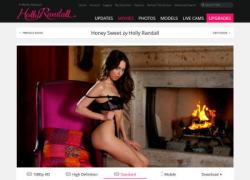 Holly Randallの動画作品ページのスクリーンショット