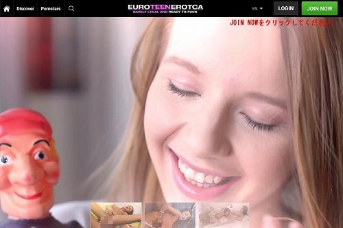 Euro Teen Eroticaのメインページ上部