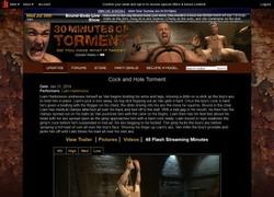 30 Minutes of Tormentの動画作品ページのスクリーンショット