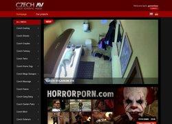 Czech AVの会員ページのスクリーンショット