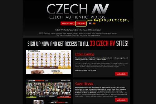 Czech AVのメインページ上部
