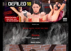 Defiled 18の動画作品ページのスクリーンショット
