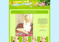Springtime Beautiesの会員ページのスクリーンショット