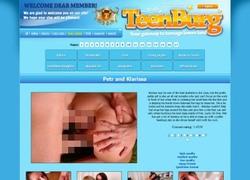 Teenburgの動画作品ページのスクリーンショット