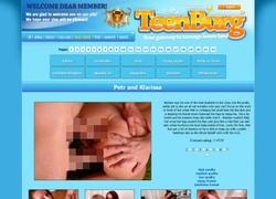 Teenburgの会員ページのスクリーンショット