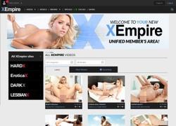 X empireの会員ページのスクリーンショット