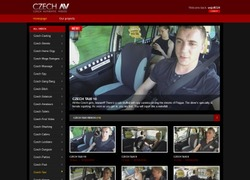 Czech Taxiの会員ページのスクリーンショット