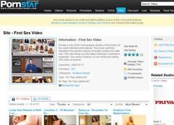 First Sex Videoの会員ページのスクリーンショット