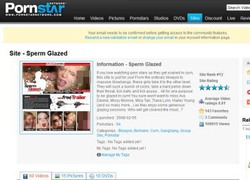 Sperm Glazedの会員ページのスクリーンショット