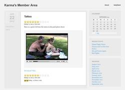 Teen Karmaの動画作品ページのスクリーンショット