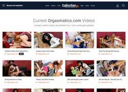 Orgasmaticsの会員ページのスクリーンショット