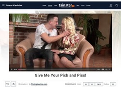 Pissing in actionの画像作品ページのスクリーンショット