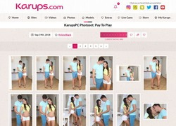 Karupsの画像作品ページのスクリーンショット