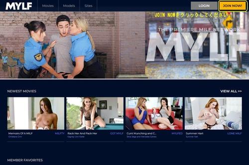 Mylfのメインページ上部