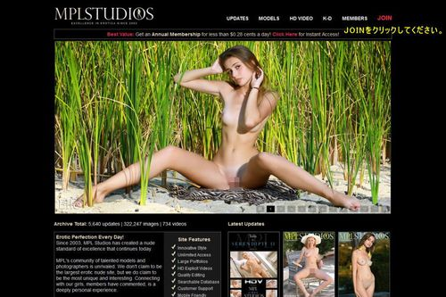 MPL Studiosのメインページ上部