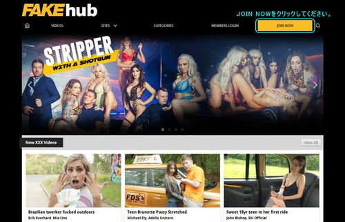 Fake Hubのメインページ