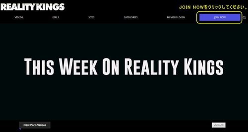 Reality Kingsのメインページ