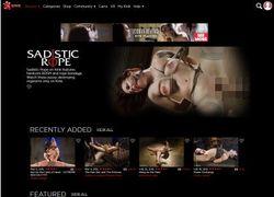 Sadistic Ropeの会員ページのスクリーンショット