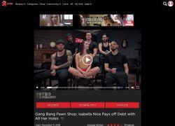Bound Gangbangsの動画作品ページのスクリーンショット
