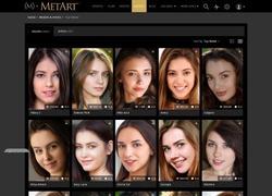 MetArtのモデル一覧ページのスクリーンショット