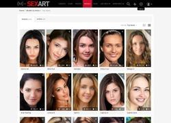 Sex Artのモデル一覧ページのスクリーンショット